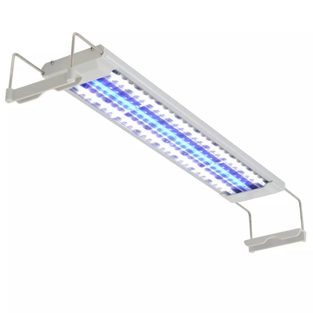 vidaXL Akváriová LED lampa, 50-60 cm, hliník, IP67