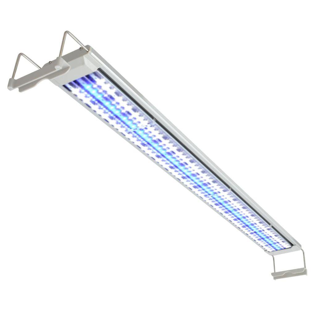 vidaXL Akváriová LED lampa, 120-130 cm, hliník, IP67