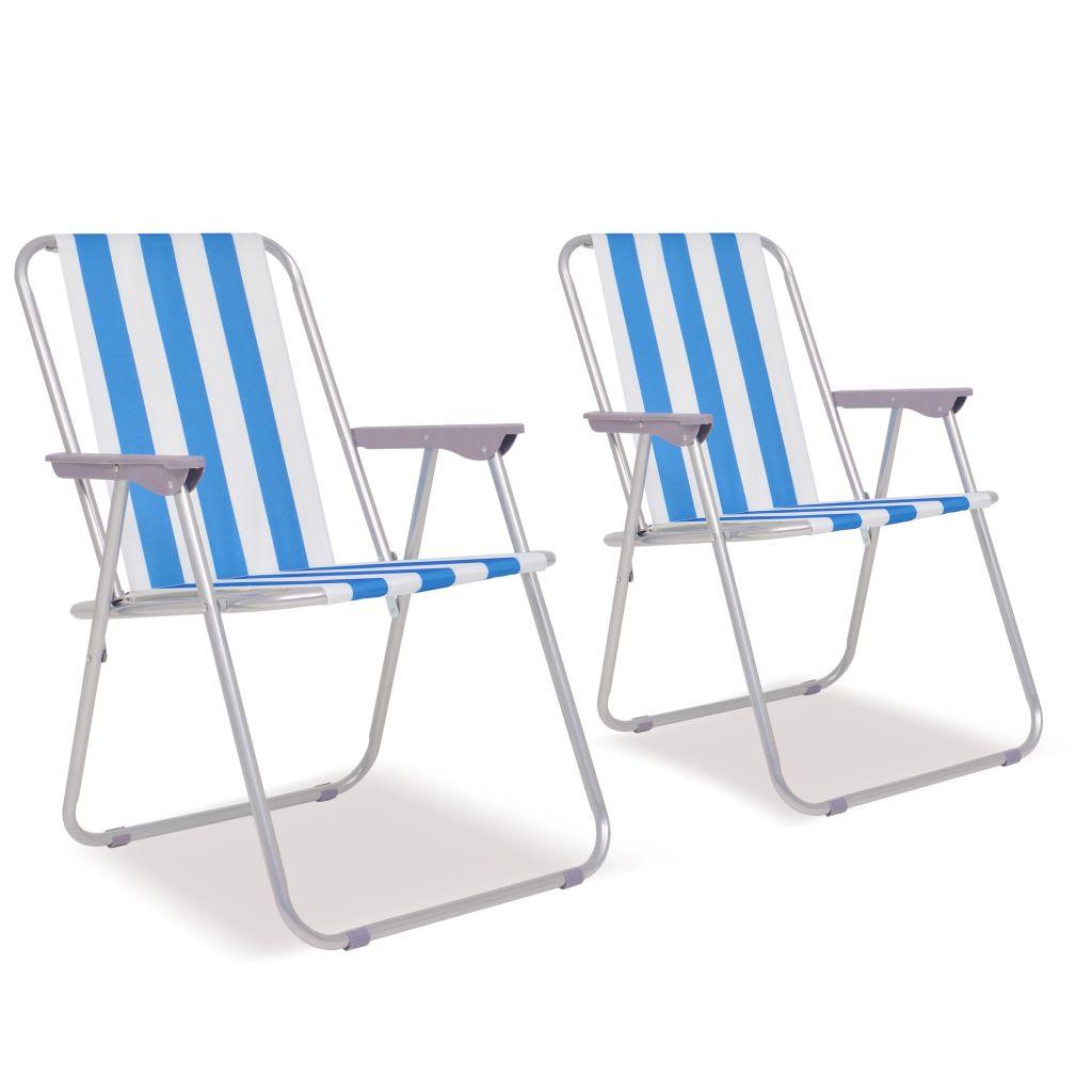 f44f2082bb1d vidaXL Oceľové skladacie kempingové stoličky