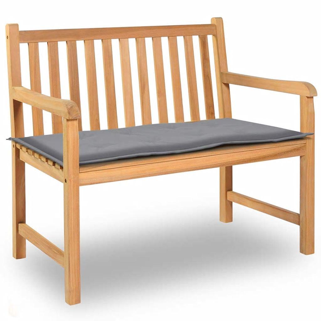 vidaXL Sedák na záhradnú lavičku, sivý, 100x50x3 cm