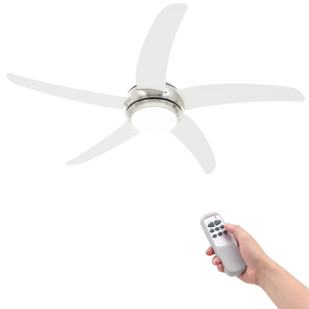 vidaXL Ozdobný stropný ventilátor s osvetlením 128 cm biely