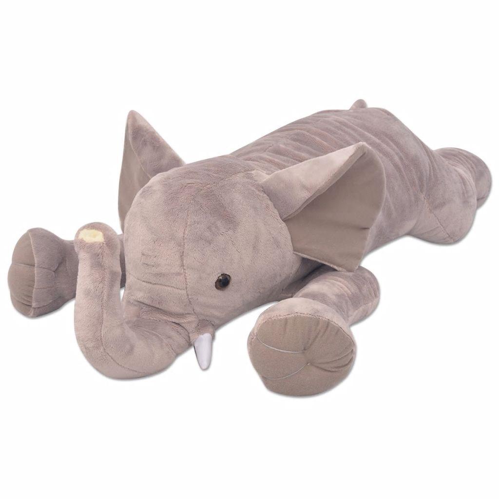 vidaXL Hračka plyšový slon, XXL, 95 cm