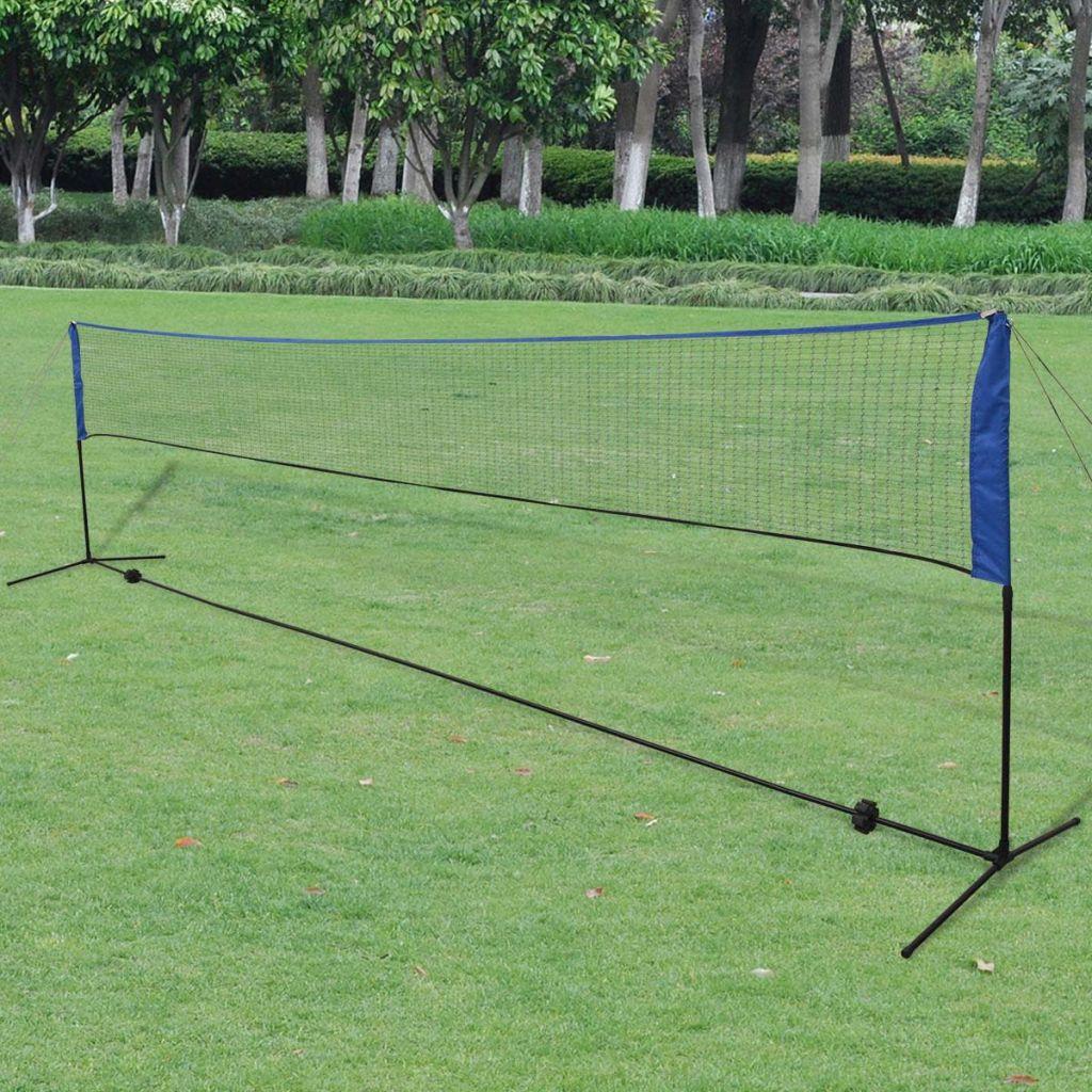 vidaXL Bedmintonová sieť s košíkmi 600x155 cm