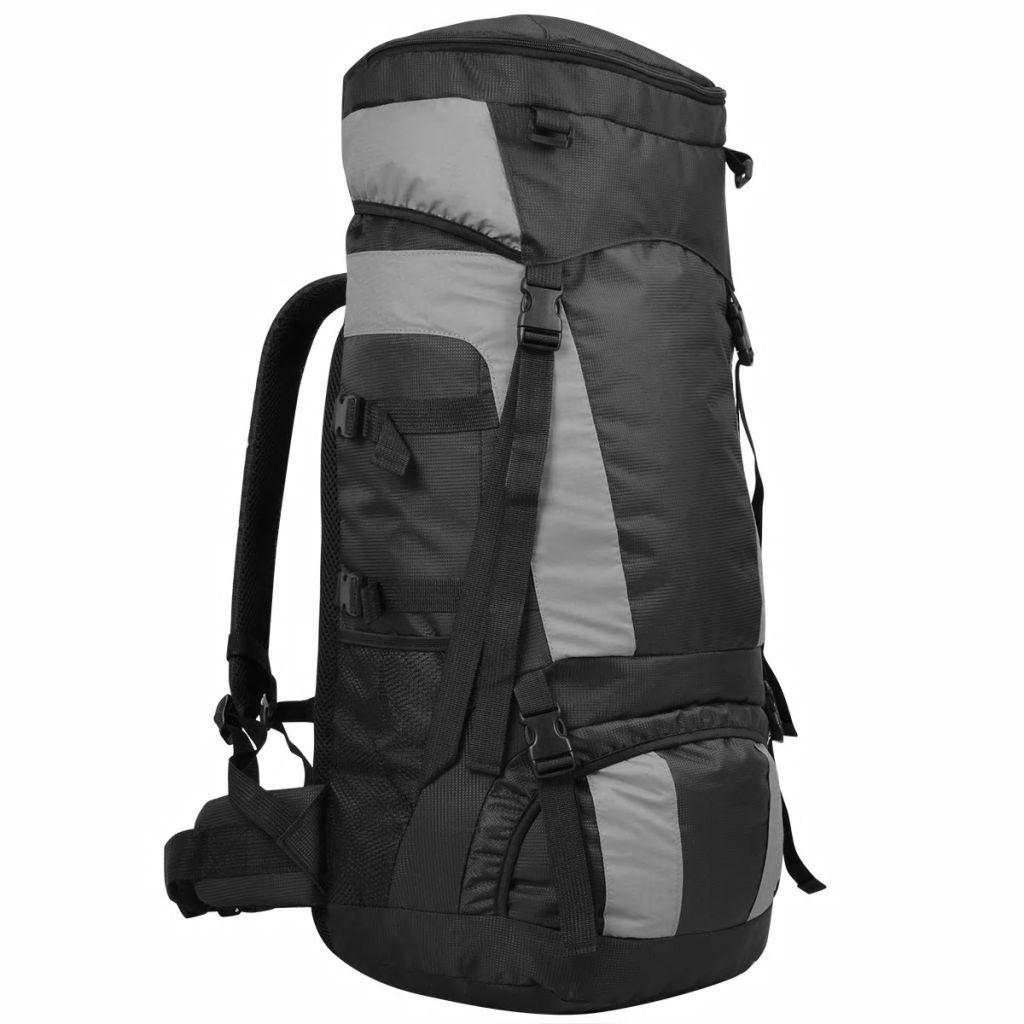 vidaXL Turistický batoh s nepremokavým obalom XXL 75 l, čierny