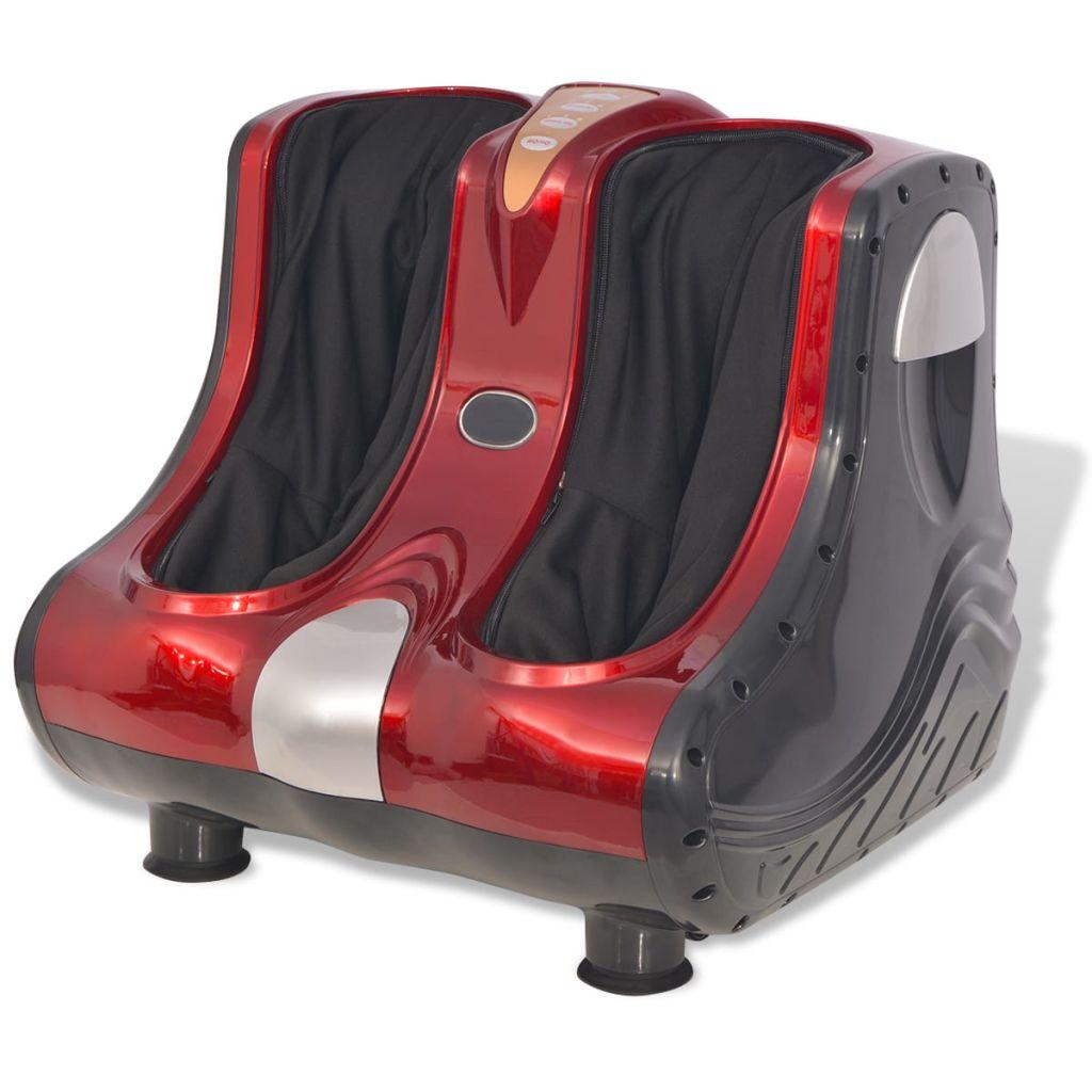 vidaXL Shiatsu masážny prístroj na nohy a lýtka, červený