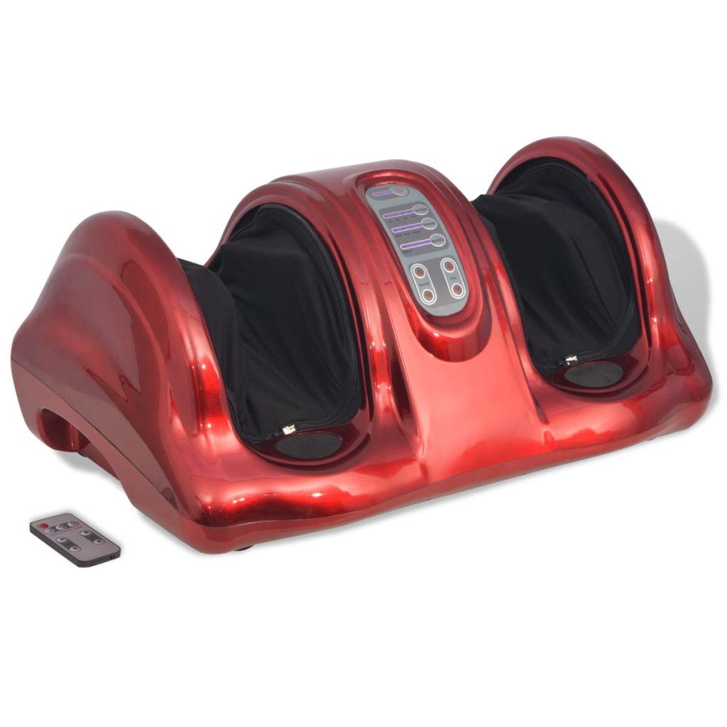 vidaXL Masážny shiatsu prístroj na nohy, červený