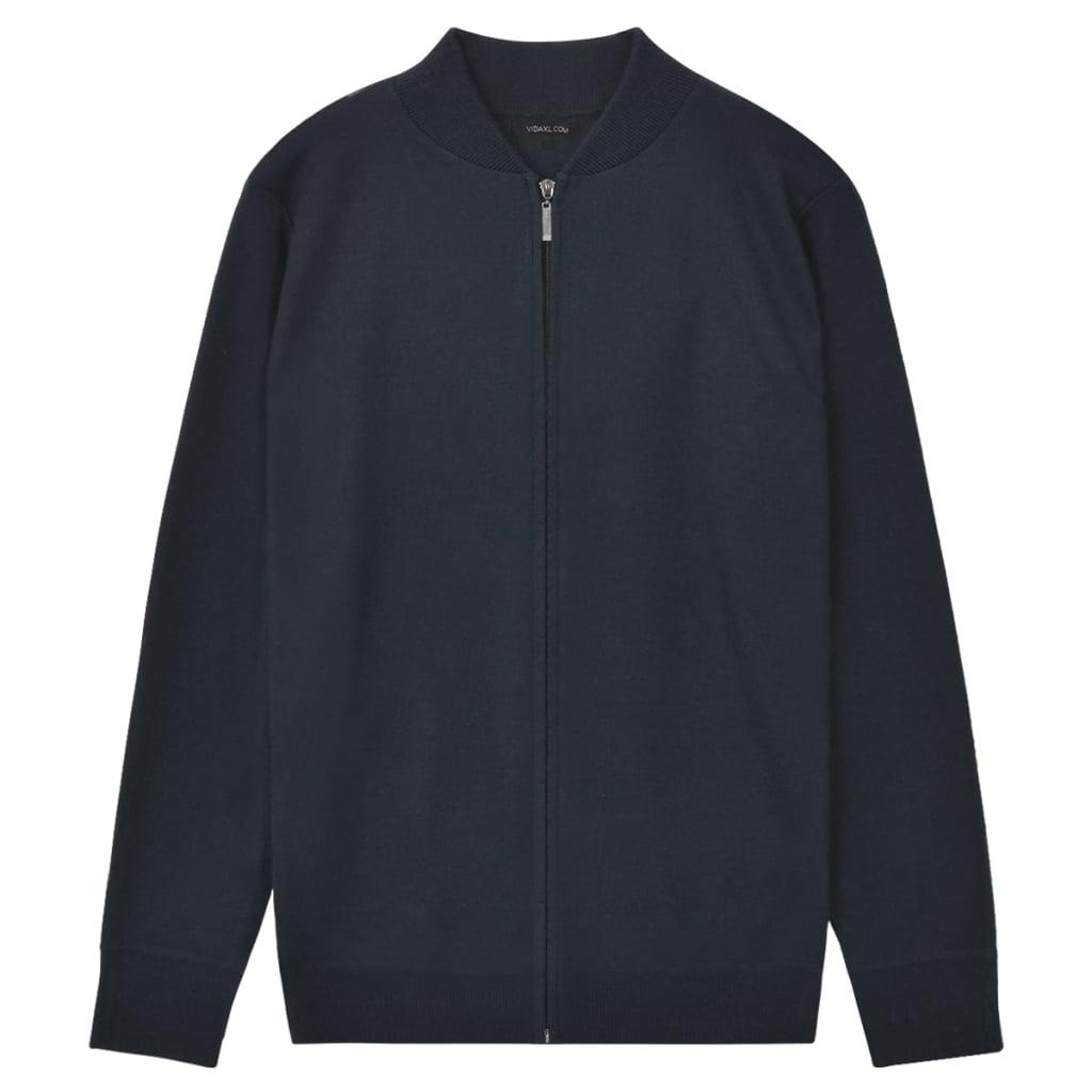 vidaXL Pánsky sveter, tmavomodrý, M