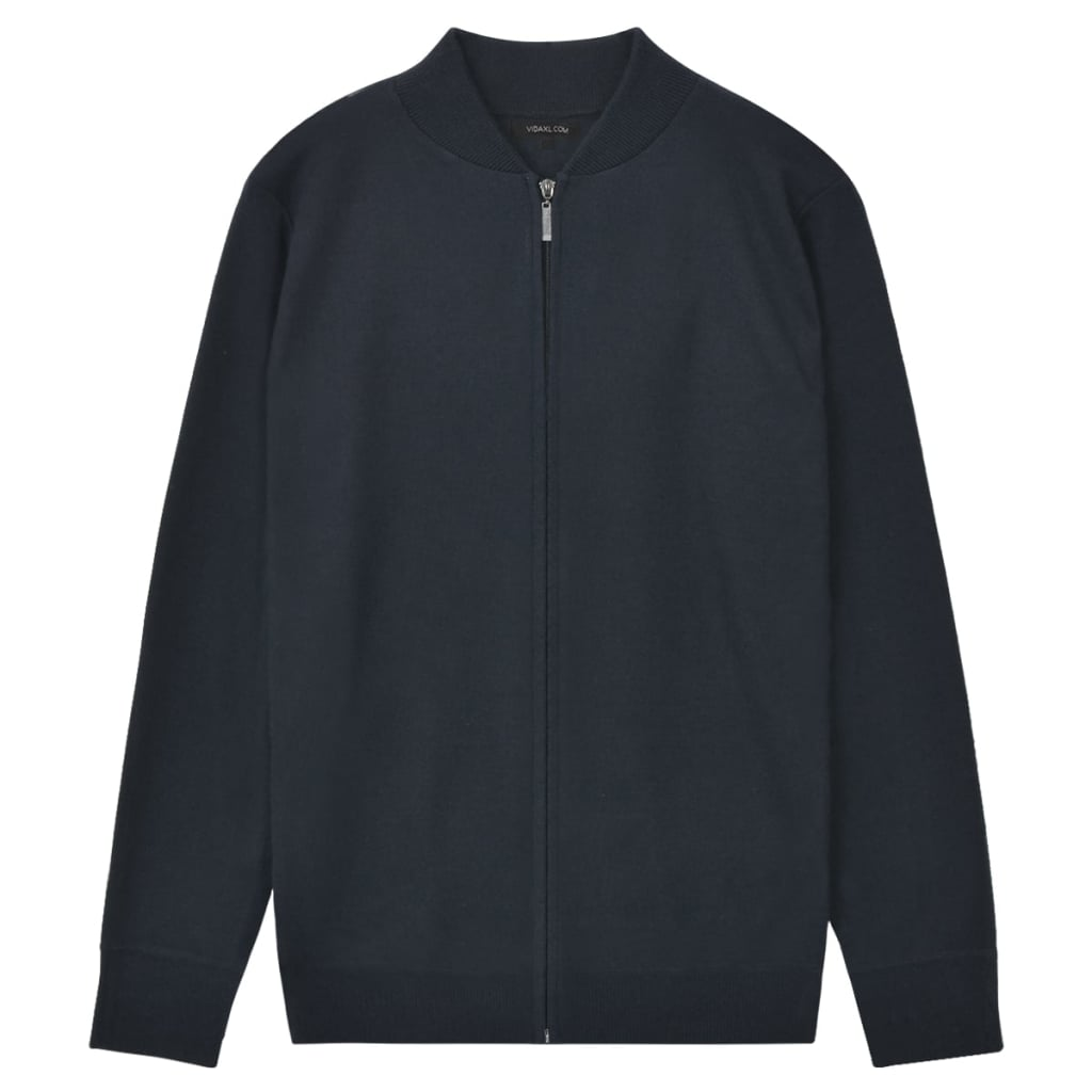 vidaXL Pánsky sveter, tmavomodrý, L