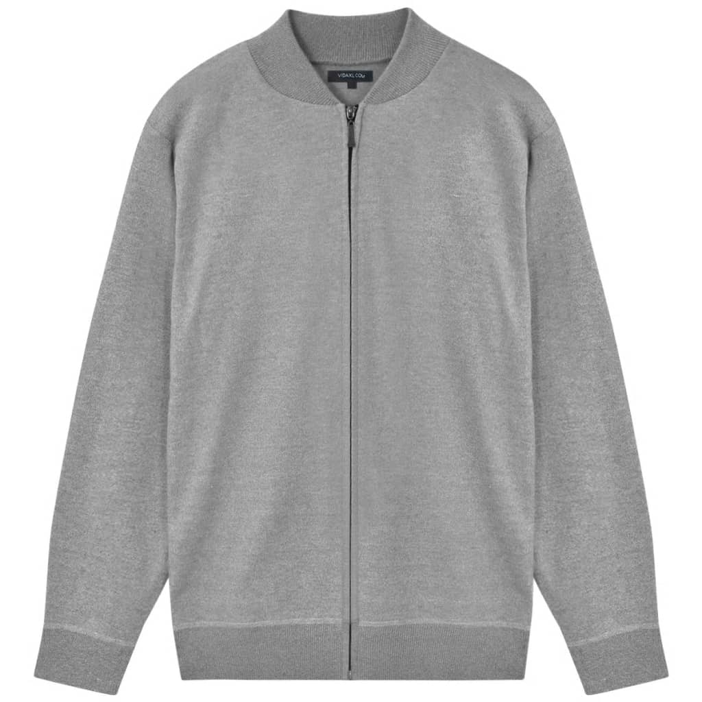 vidaXL Pánsky sveter, sivý, M