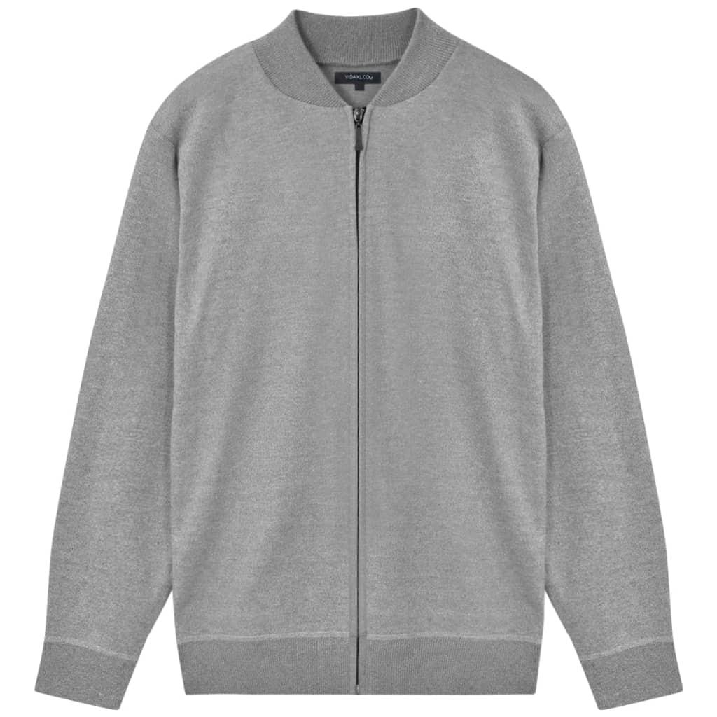 vidaXL Pánsky sveter, sivý, L