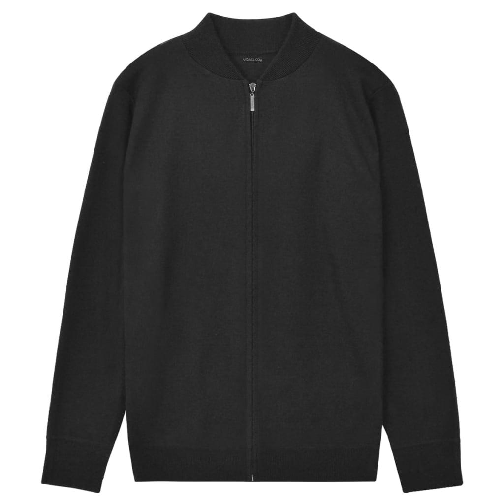 vidaXL Pánsky sveter, čierny, M