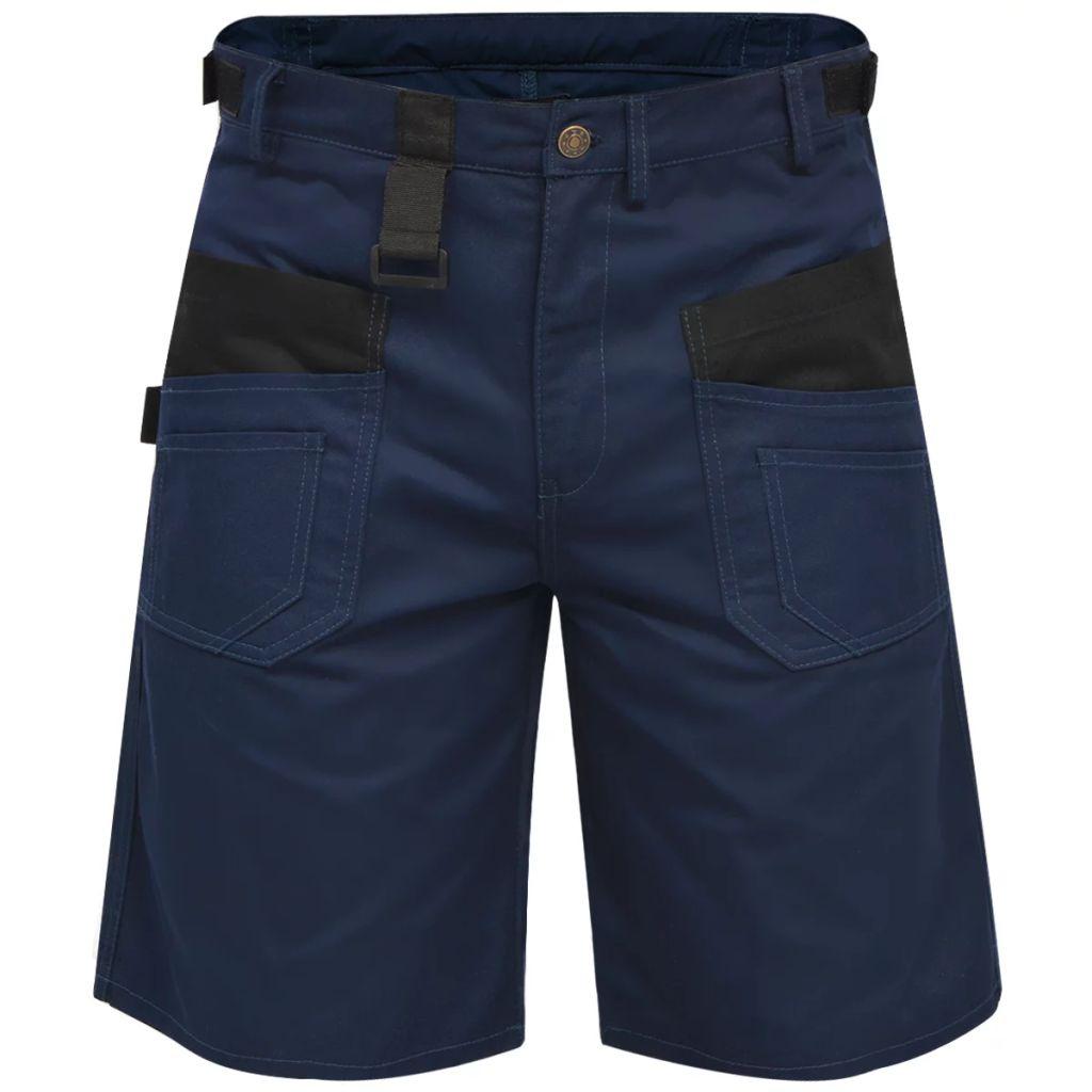 vidaXL Pánske pracovné krátke nohavice, veľkosť XXL, modré