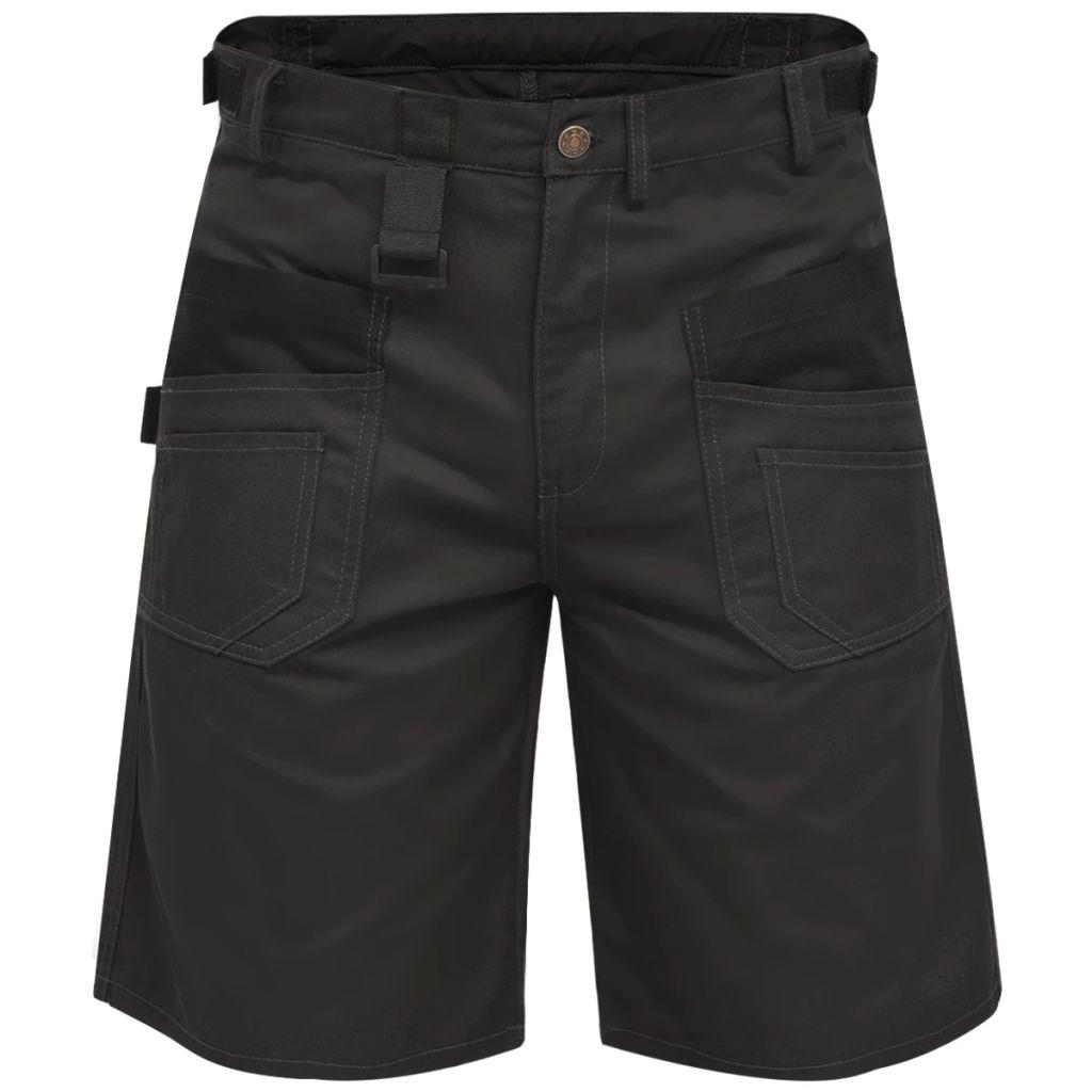 vidaXL Pánske pracovné krátke nohavice, veľkosť L, sivé