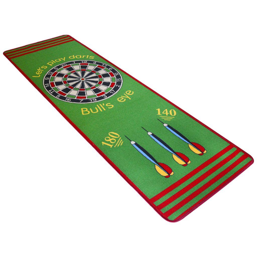 vidaXL Koberec so vzorom šípiek, 79x237 cm, zeleno-červený
