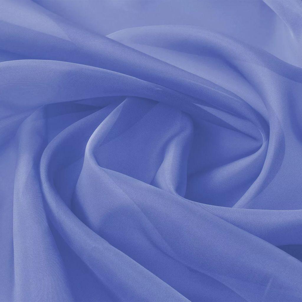 vidaXL Látka voál, 1,45x20 m, kráľovská modrá