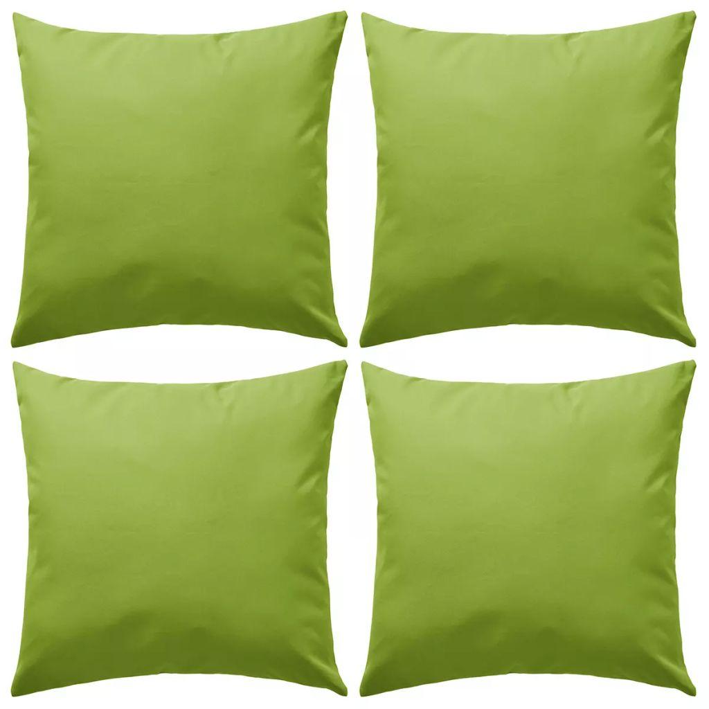 vidaXL Vankúše do exteriéru 4 ks jablkovo zelené 45x45 cm