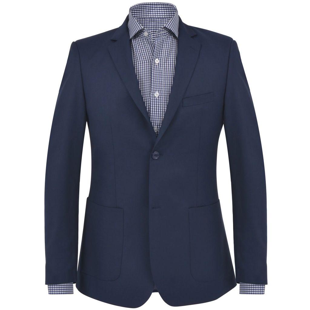 vidaXL Pánske formálne sako, veľkosť 48, námornícke modré