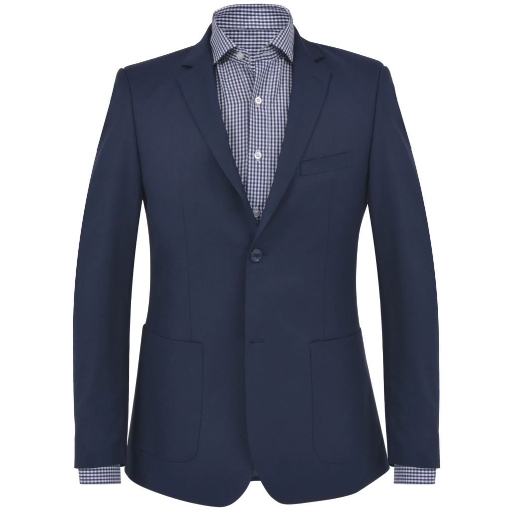 vidaXL Pánske formálne sako, veľkosť 56, námornícke modré