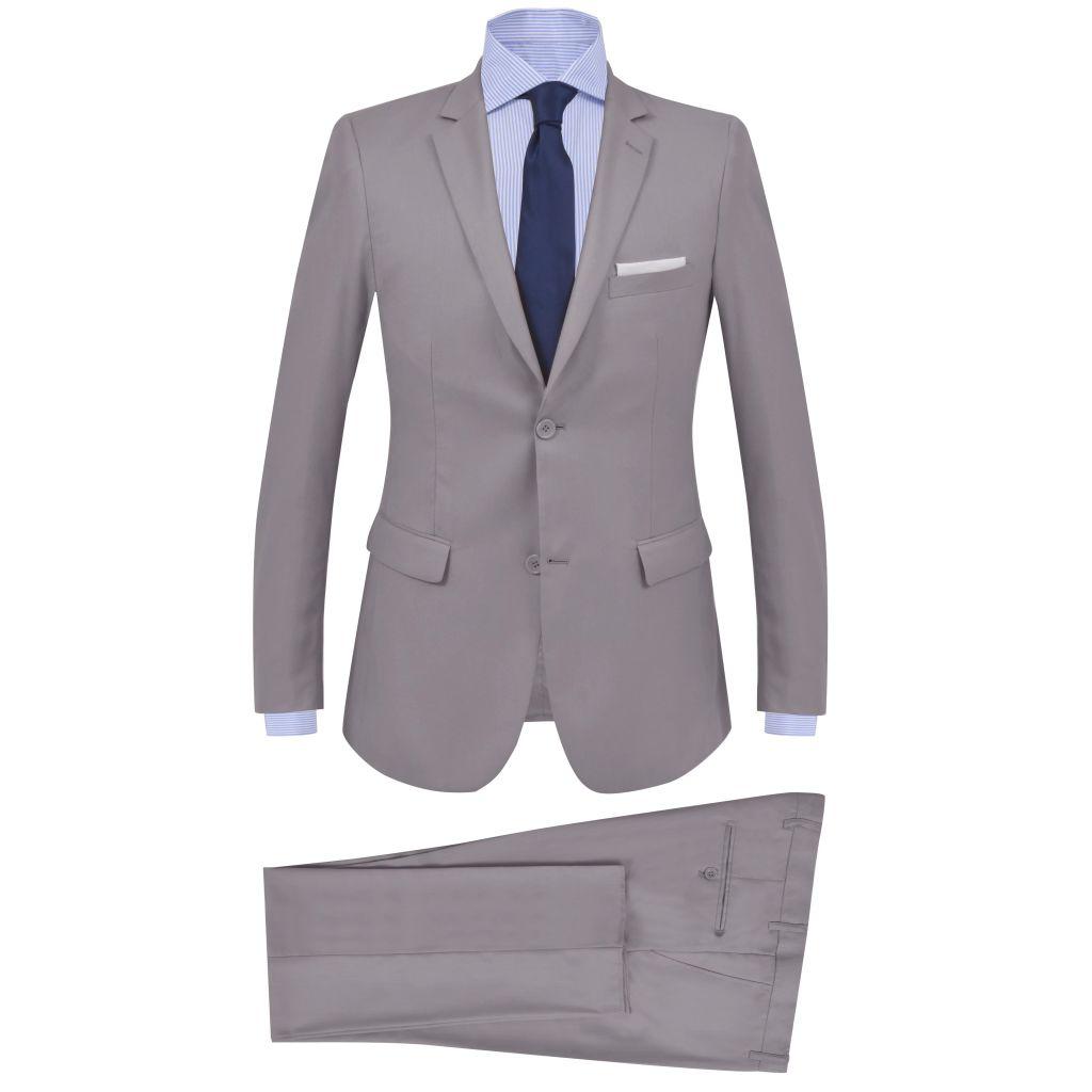 vidaXL Pánsky dvojdielny formálny oblek, veľkosť 46, bledosivý