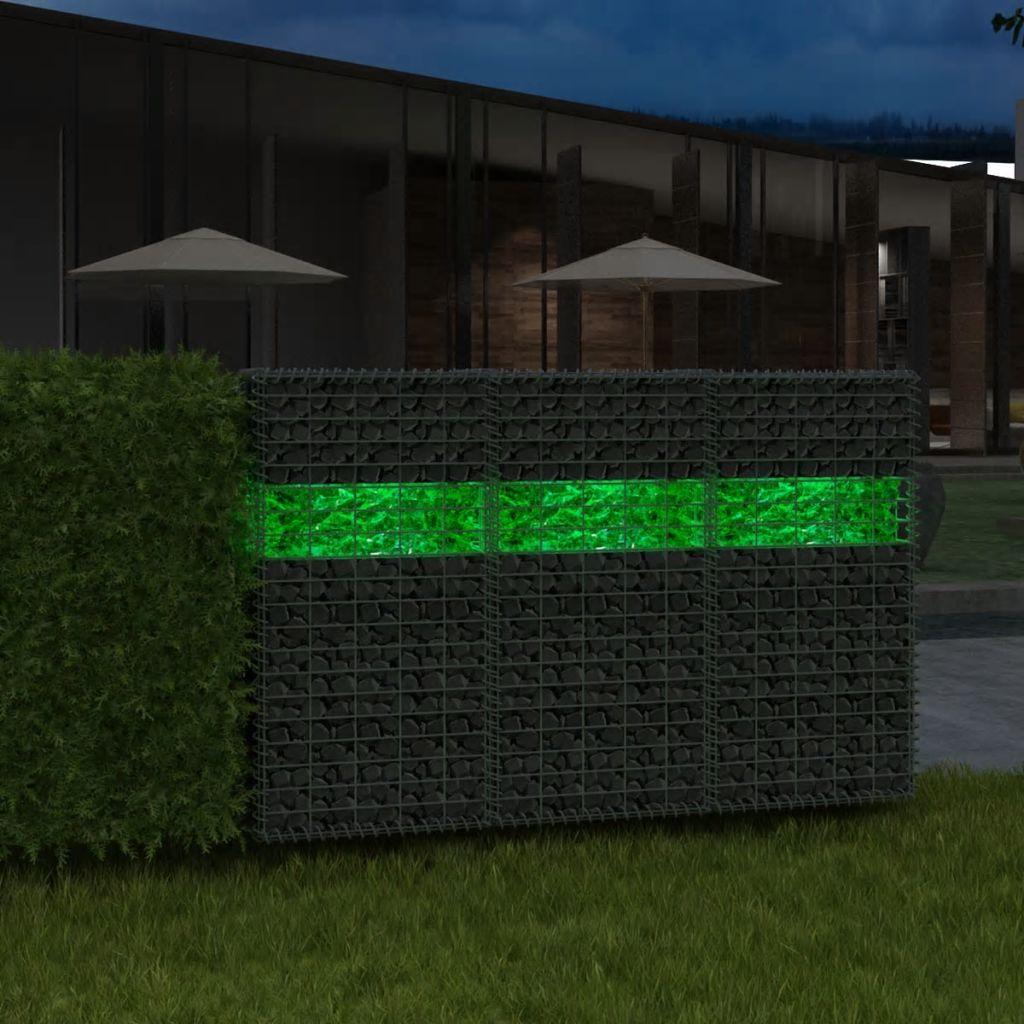 vidaXL Gabiónové kamene zo skla, zelené, 60-120 mm, 25 kg