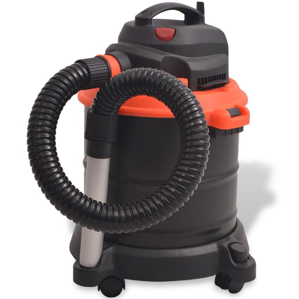 vidaXL Vysávač na popol, 1200 W, 20 l, čierno-oranžový