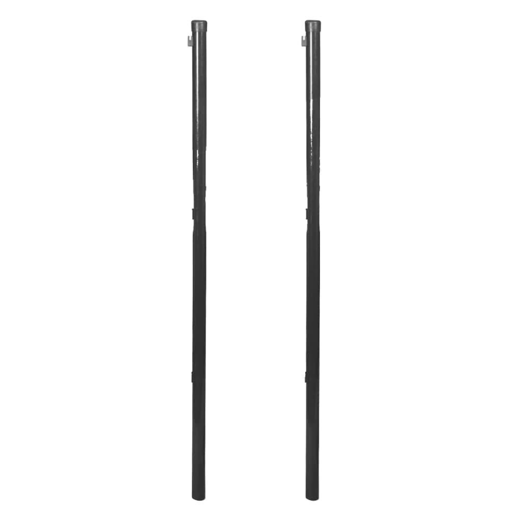 vidaXL Stĺpik pre pletivo, 2 ks, 115 cm, šedý