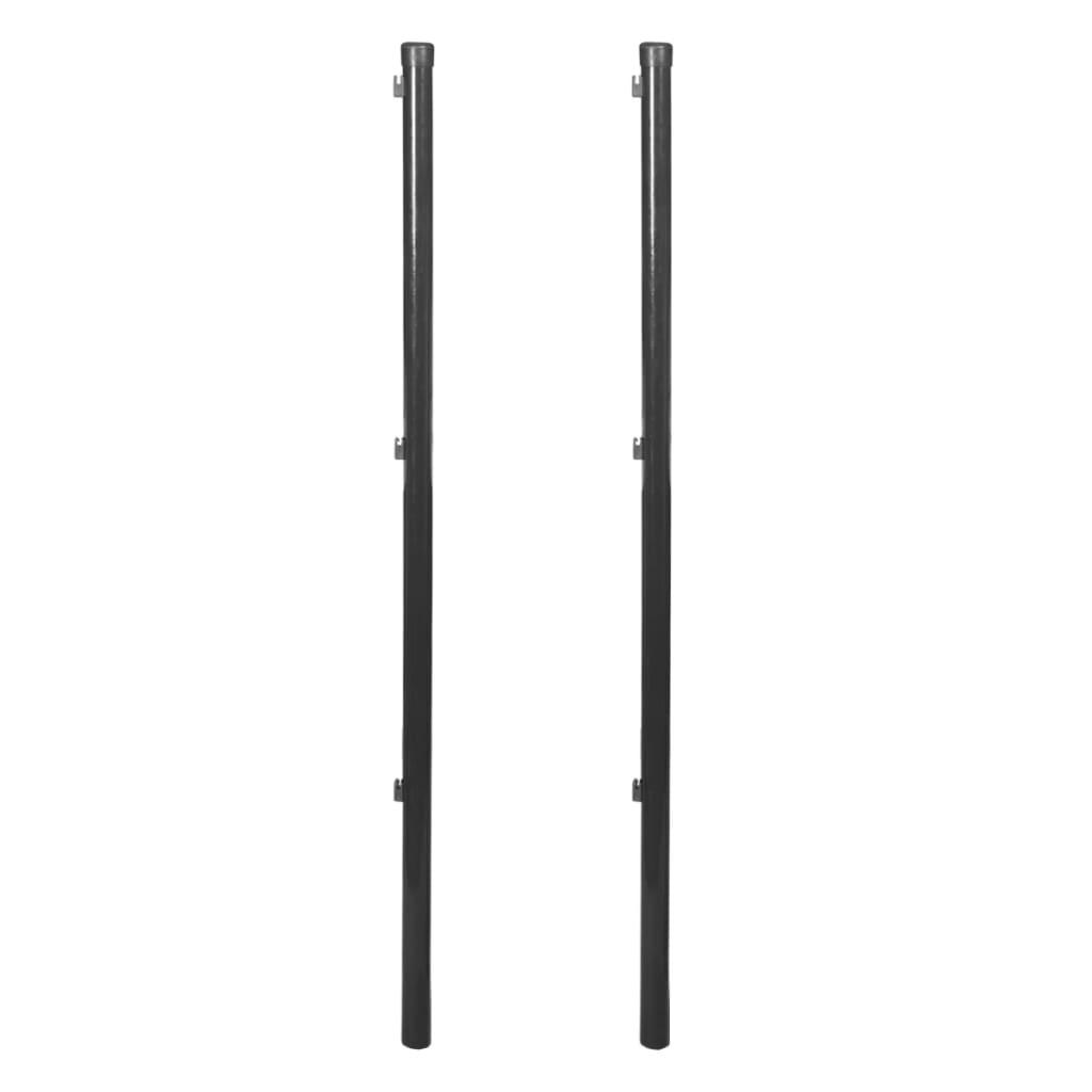 vidaXL Stĺpik pre pletivo, 2 ks, 150 cm, šedý