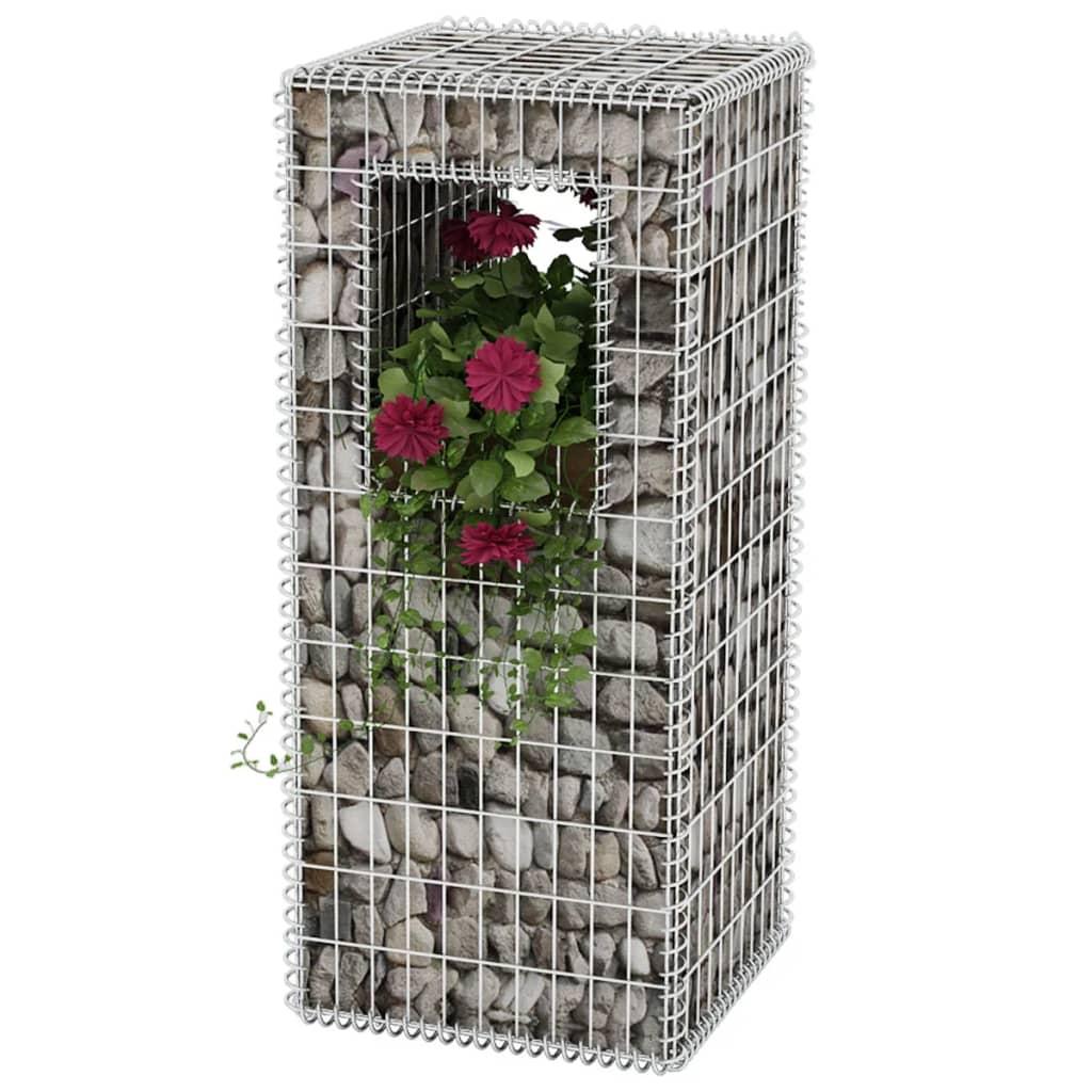 vidaXL Gabiónový kôš/kvetináč, oceľový, 50x50x120 cm