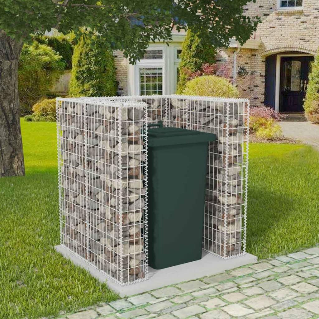 vidaXL Gabion na odpadkový kôš, oceľový, 110x100x120 cm