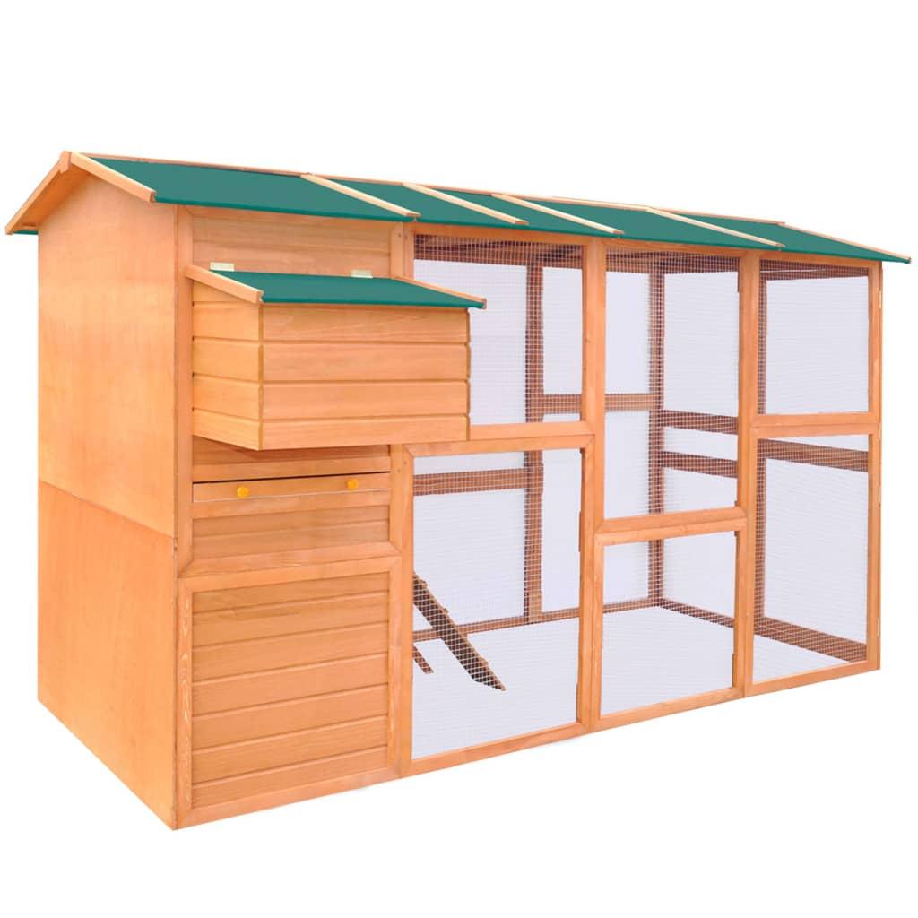 vidaXL Kurín pre sliepky, drevený, 295x163x170 cm