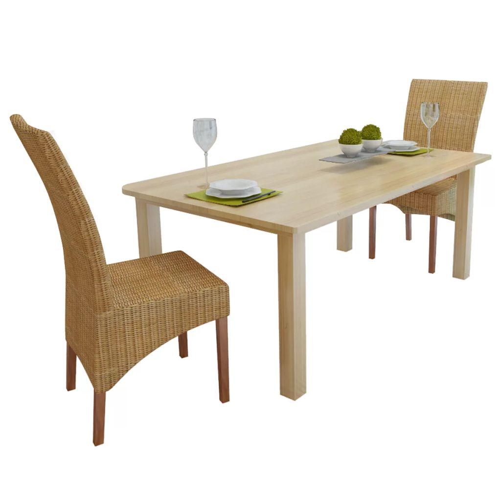 20b0432f58fbe vidaXL Ratanové jedálenské stoličky, 2 ks, hnedé