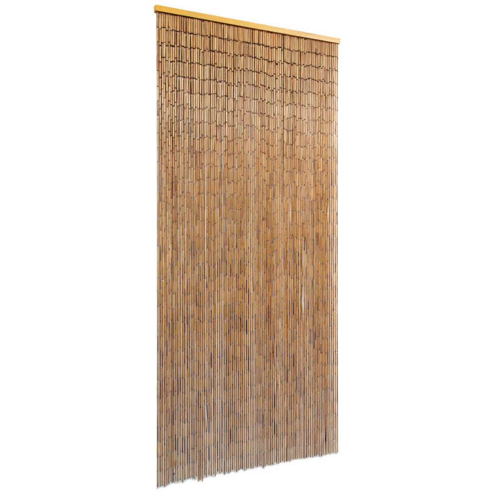 vidaXL Bambusový záves do dverí, 90x200 cm