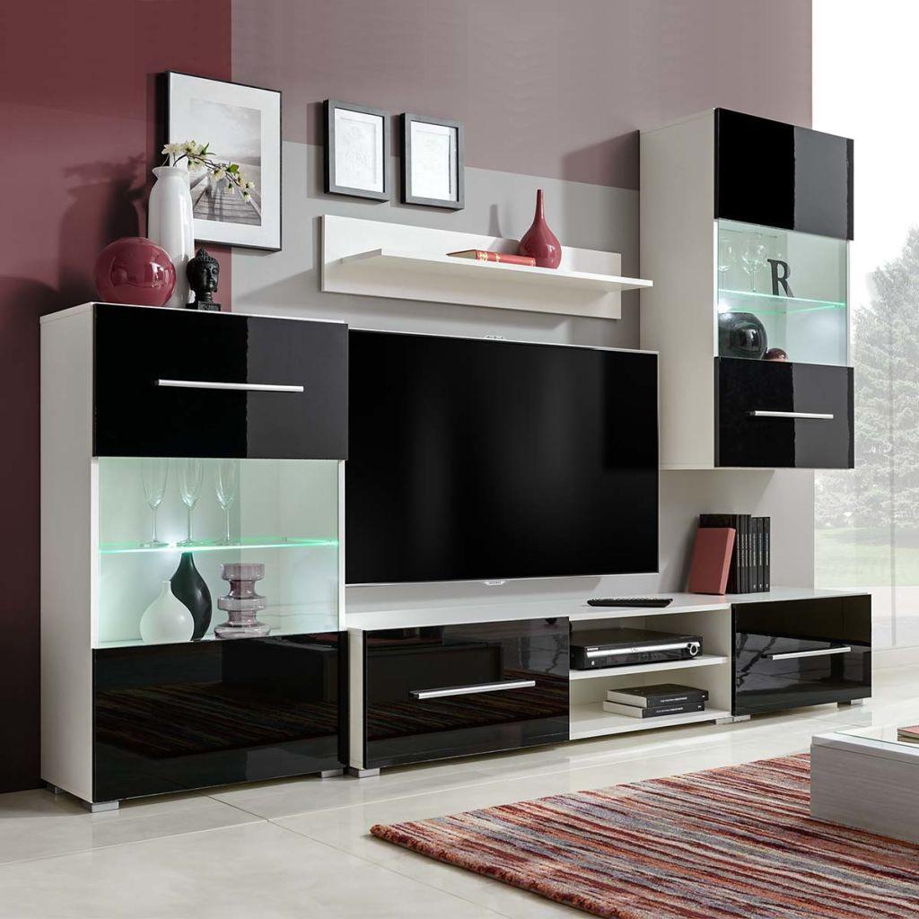 98a074256359 vidaXL 5-dielna obývačková súprava nábytku s LED osvetlením