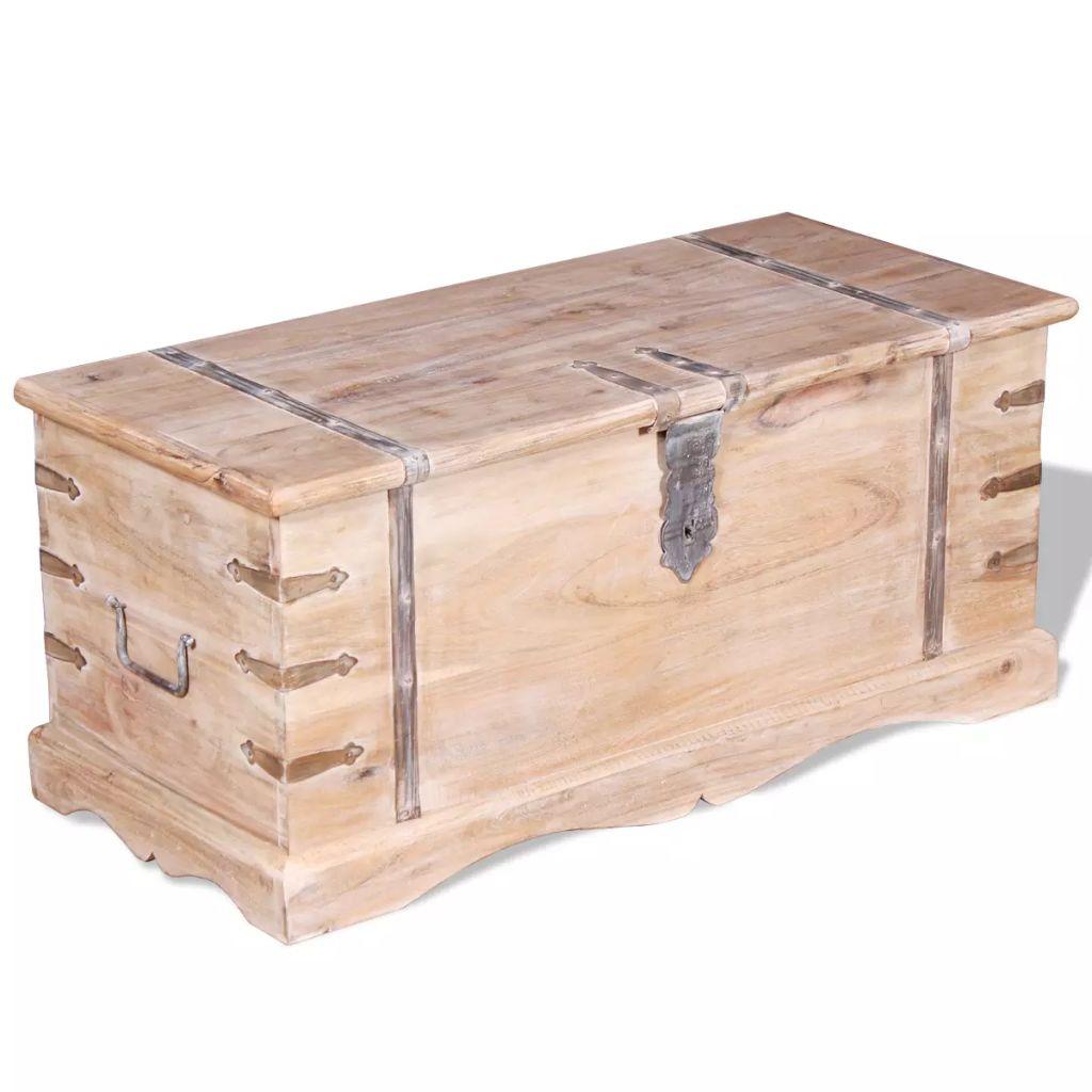 vidaXL Úložná truhlica z akáciového dreva
