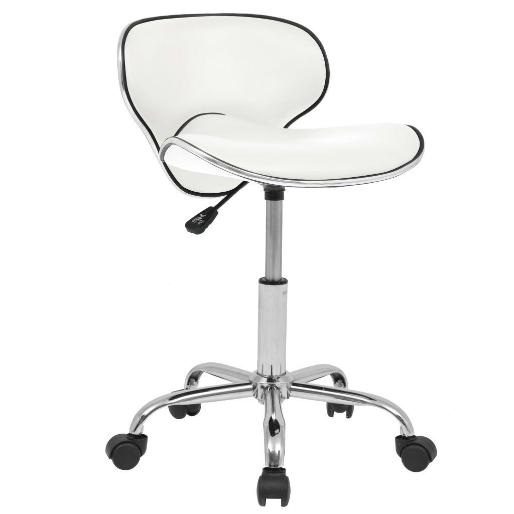 vidaXL Otočná barová stolička z umelej kože, biela