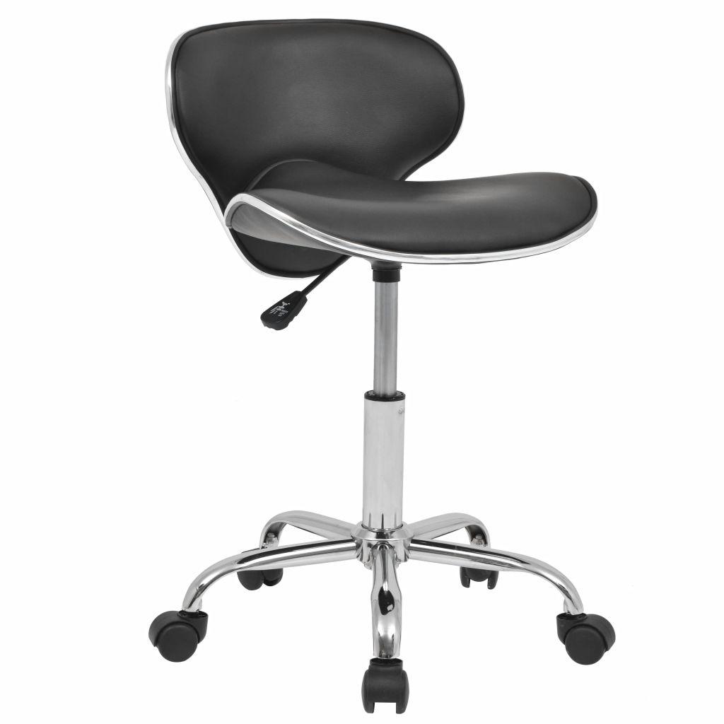 vidaXL Otočná barová stolička z umelej kože, čierna