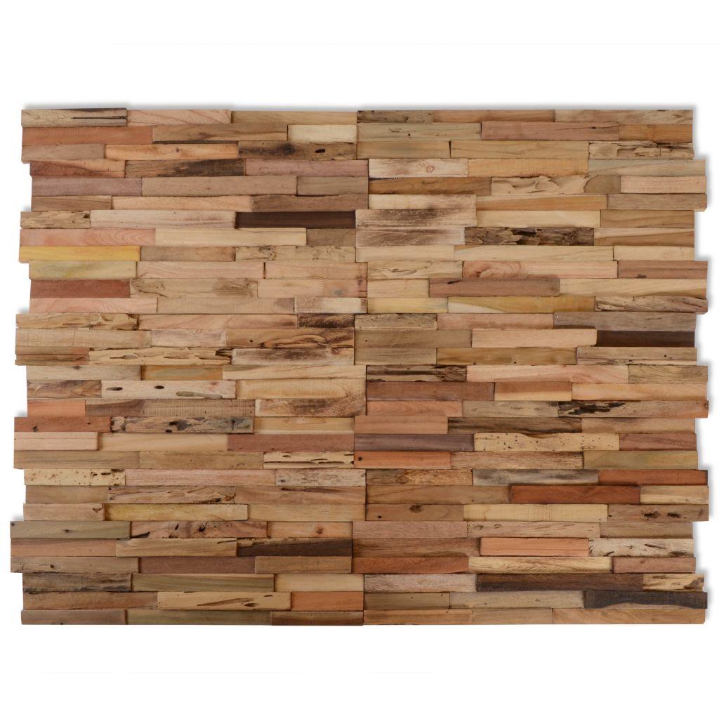 vidaXL 10 ks nástenných obkladových panelov, 1 m², recyklované teakové drevo