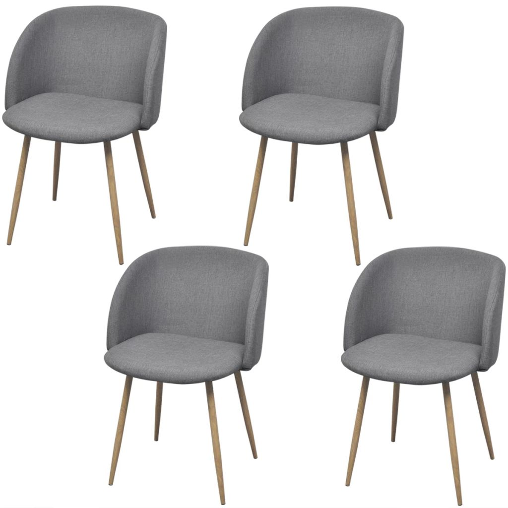 vidaXL Jedálenské stoličky 4 ks svetlosivé