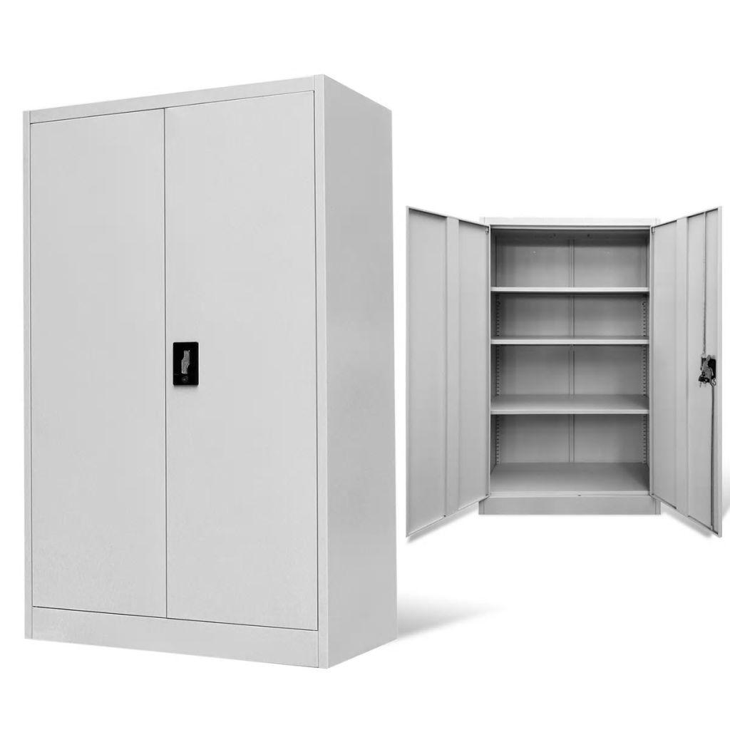 vidaXL Oceľová kancelárska skrinka, šedá