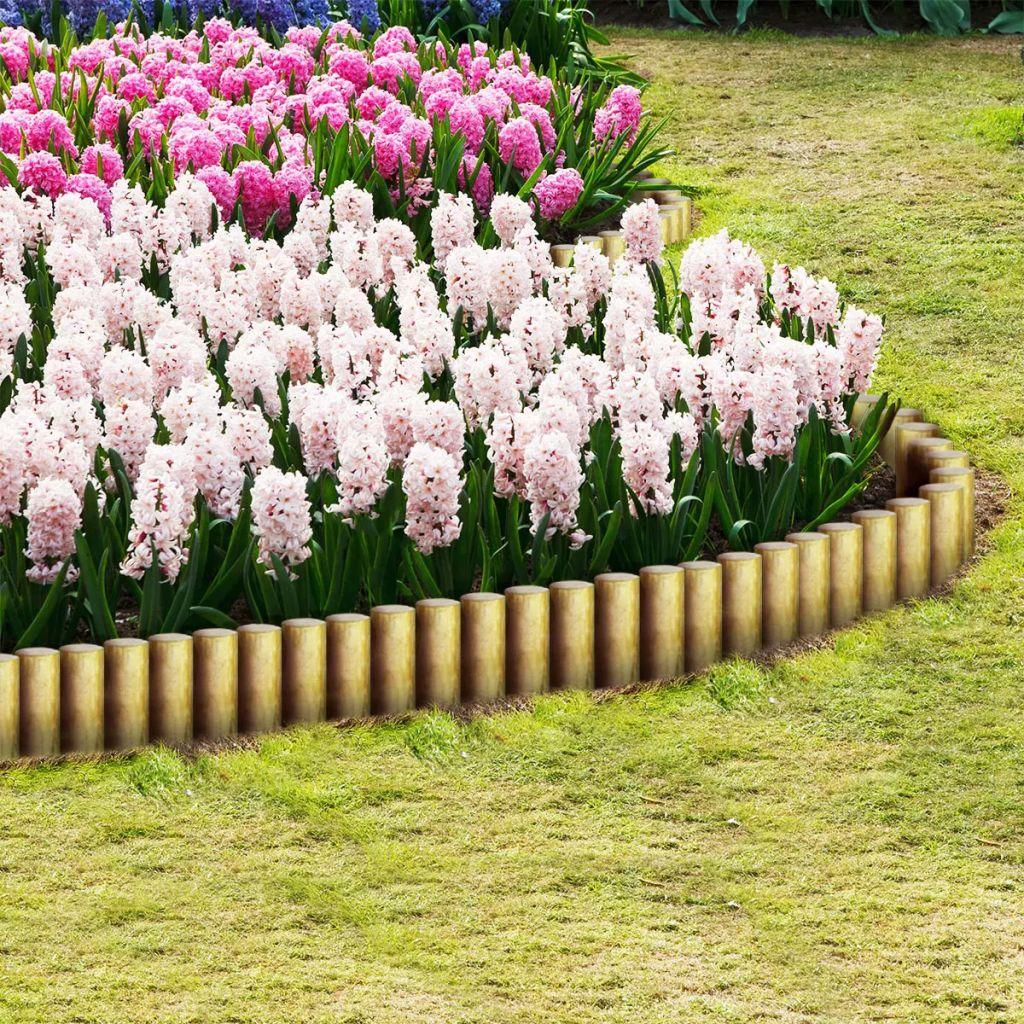 vidaXL Špicaté plotové stĺpiky, 25 ks, impregnované borovicové drevo, 5x40cm