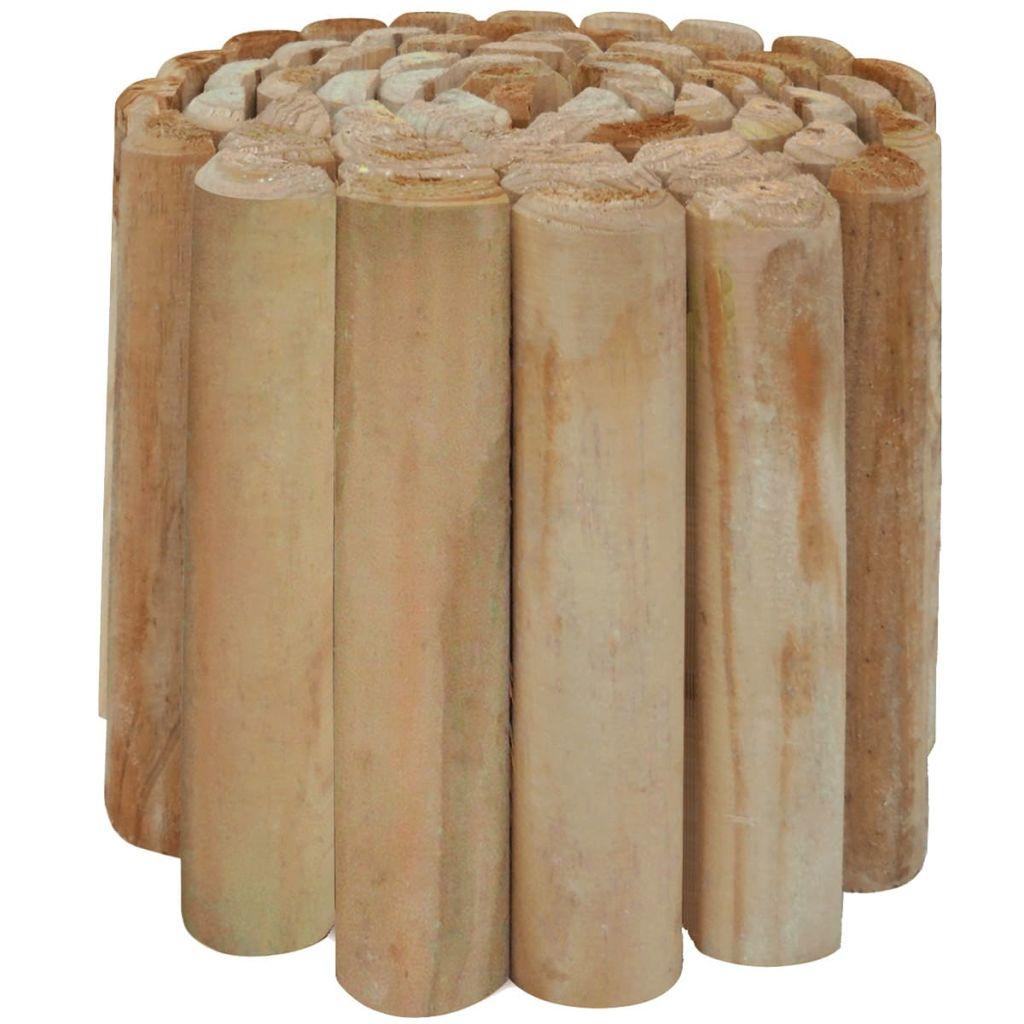 vidaXL Kotúčová palisáda na ohraničenie trávnika, impregnovaná borovica,  250x30 cm