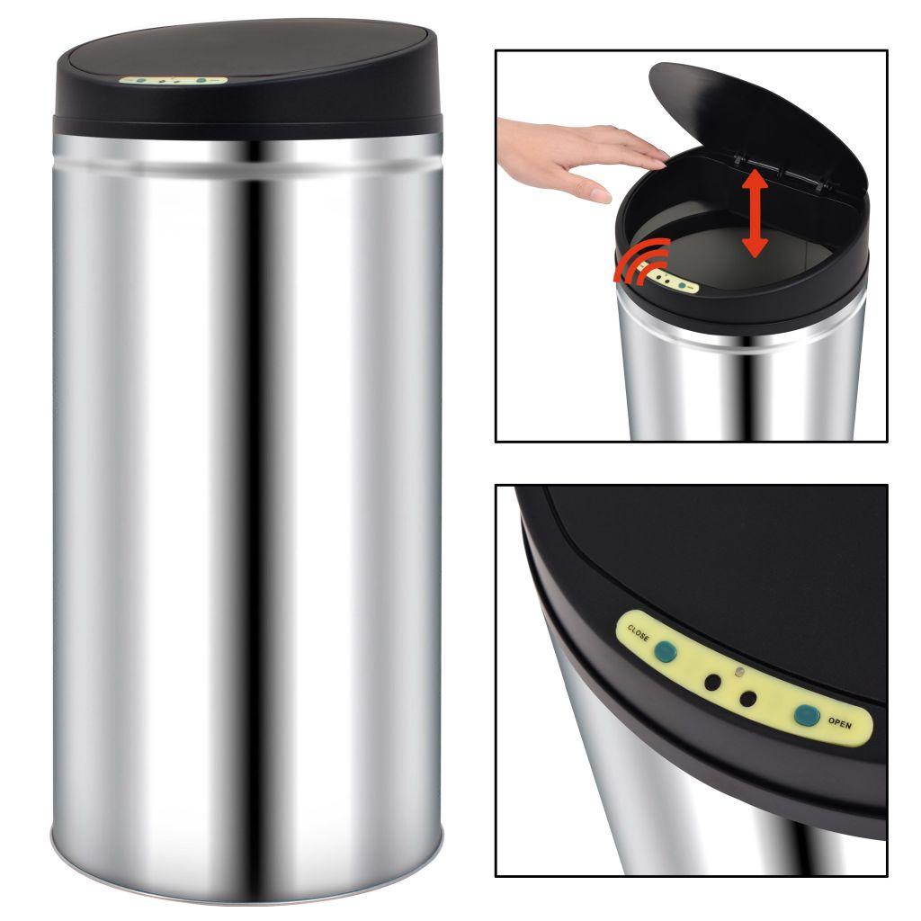 vidaXL Automatický odpadkový kôš so senzorom 52 l, nehrdzavejúca oceľ