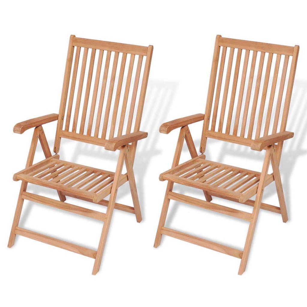 1fdb0024e0b82 vidaXL Skládacia záhradná stolička, 2 ks, teakové drevo