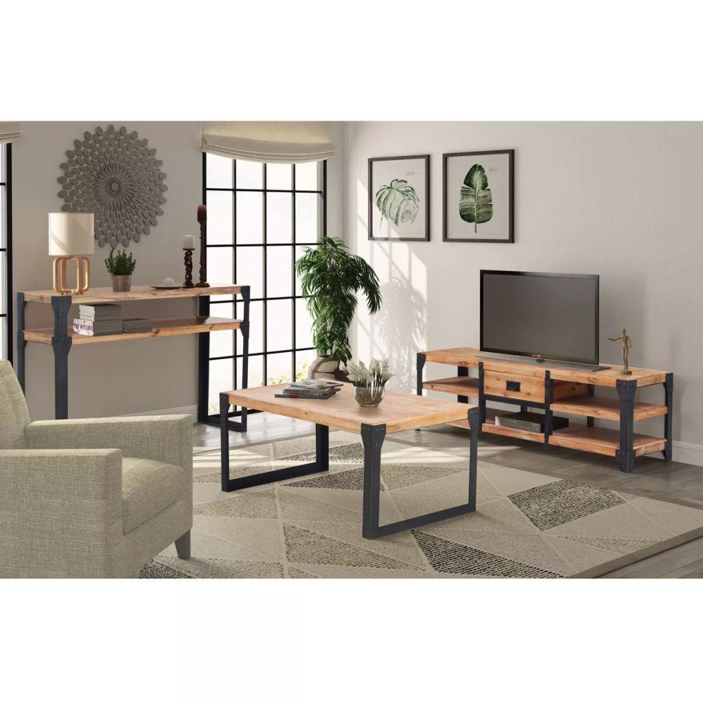 vidaXL 3-dielna sada nábytku do obývacej izby, akáciové drevo