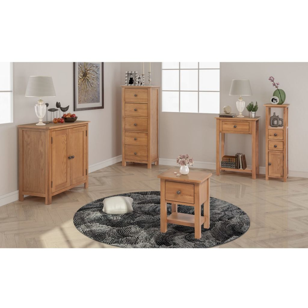 vidaXL 5-dielna súprava nábytku do obývačky, dubový masív