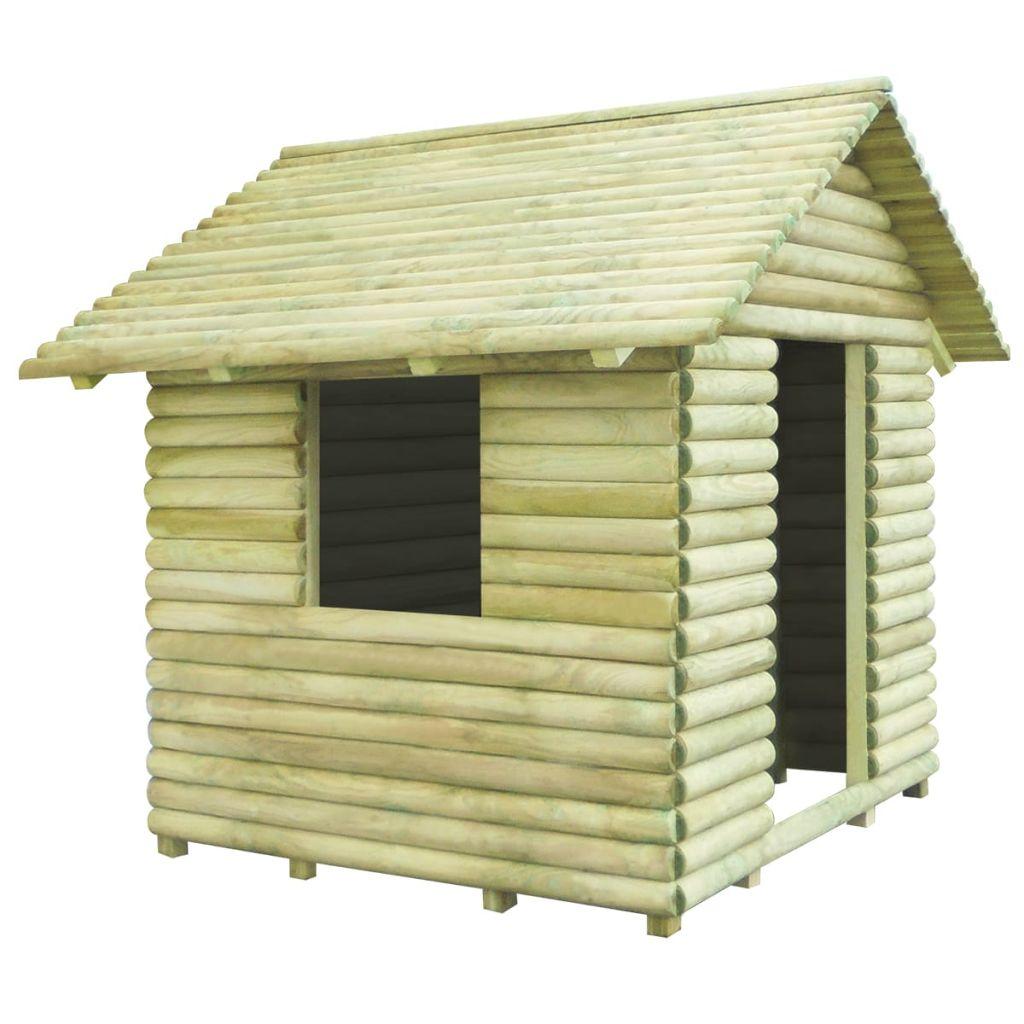 vidaXL Detský domček, impregnované borovicové drevo, 167x150x151 cm