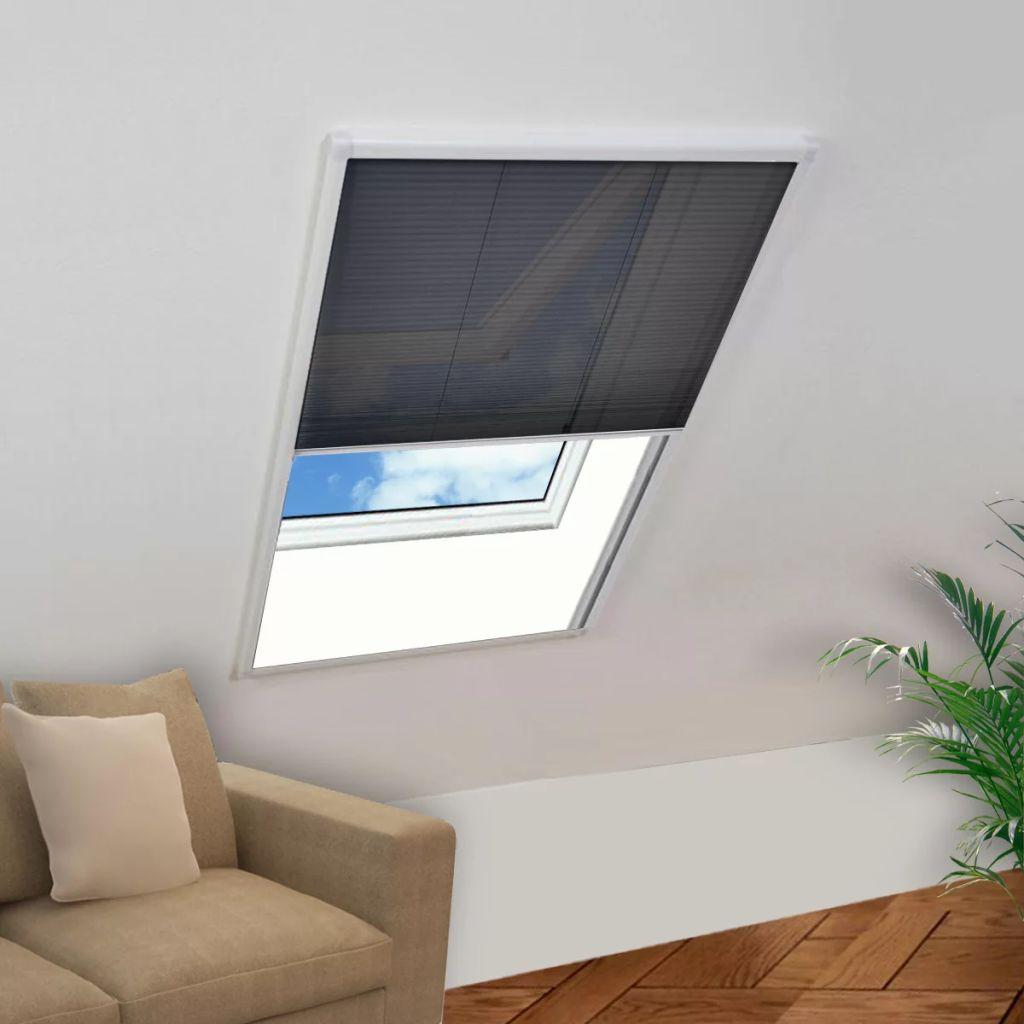 vidaXL Plisovaná okenná sieťka proti hmyzu s hliníkovým rámom, 130 x 100 cm