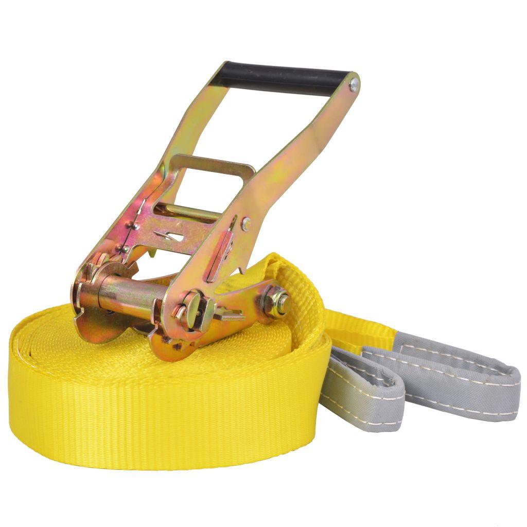 vidaXL Žlté lano na chodenie/slackline, 15 m x 50 mm, 150 kg