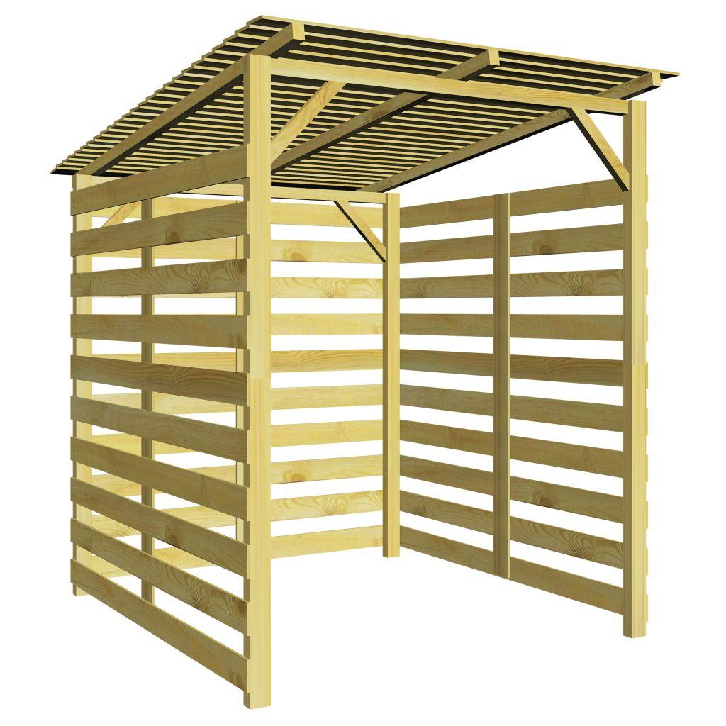 vidaXL Prístrešok na palivové drevo, impregnované borovicové drevo 170x200x200 cm