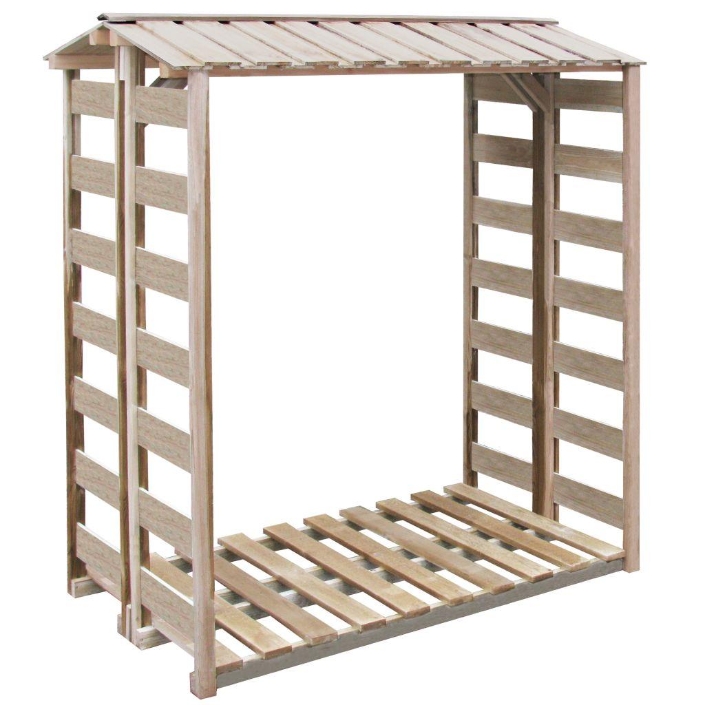vidaXL Prístrešok na palivové drevo, 150x100x176 cm, impregnované borovicové drevo